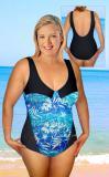 Dámské plavky jednodílné nadměrné vel. L