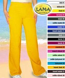 Elastické kalhoty volné vel. M -žluté -ihned k odeslání