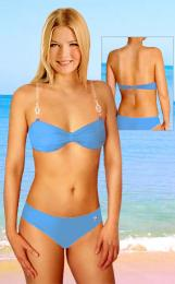 Dámské plavky dvojdílné s ozdobou z lesklých kamínkù vel. XL