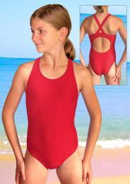 Dívèí plavky jednodílné plavecké