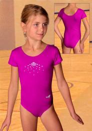 Gymnastický dres závodní s ozdobou z lesklých kamínkù