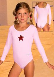 Gymnastický dres s dlouhým rukávem