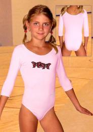 Gymnastický dres s 3/4 rukávem