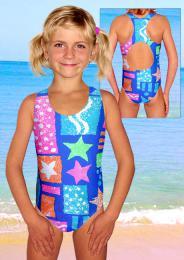 Dívčí plavky jednodílné plavecké - zvětšit obrázek