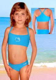 Dívè plavky dvojdílné vel. 160 TM. FIALOVÉ