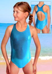 Dívèí sportovní plavky jednodílné