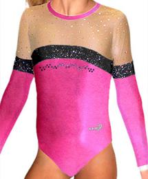 Gymnastický dres závodní vel. 110 -Ihned k odeslání - zvětšit obrázek