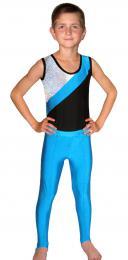 Gymnastické kalhoty chlapecké-tmavì modré vel.150