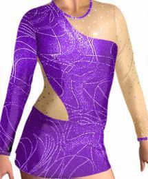 Dres na moderní gymnastiku - trikot-vel.S  ihned k odeslání