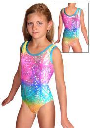 Gymnastický dres závodní - vel. 110 skadem ihned k odeslání