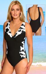 Dámské plavky s kosticemi vel. XL