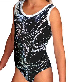 Gymnastický dres závodní - vel. 130 skadem ihned k odeslání